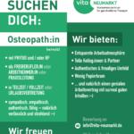 Stellenangebot / Wir suchen ein*e Osteopath*in